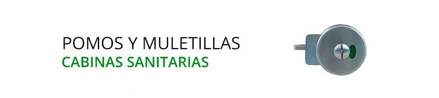 Pomos, Muletillas y Condenas para Cabinas Sanitarias - Comprar Online