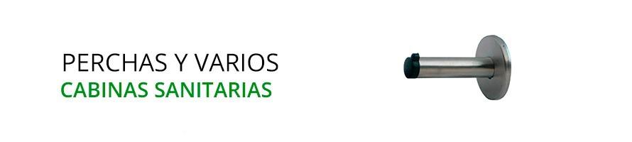 Perchas y Accesorios para Cabinas Sanitarias - Herrajes de Andalucía